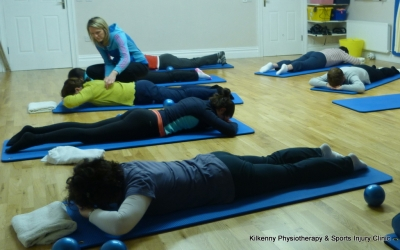 Pilates class with chartered physiotherapist