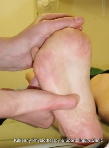 Manual release of the plantar fascia is useful in the treatment of heel pain